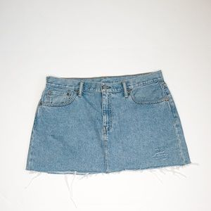 Levi's Denim Skirt with Frayed Hem